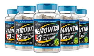 Combo 5 Hemovital Polivitaminico Multivitaminico 120 Lauton
