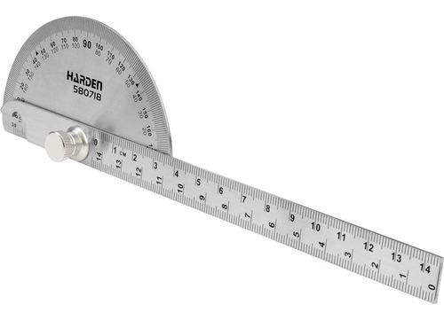 Regla Transportador Goniometro Mecanico Medidor Angulo Acero