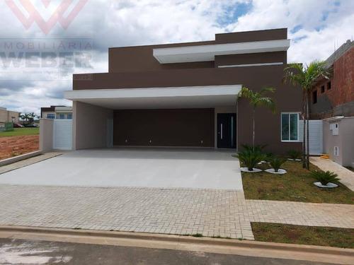 Casa Nova C/ 3 Suítes, 300 M² Á Venda Por 1.950.000 Alphaville  Esplanada 3 - 1287