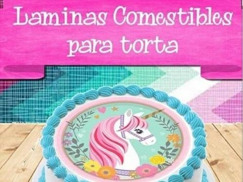 Imagen 1 de 10 de Lámina Comestible Personalizada Para Torta