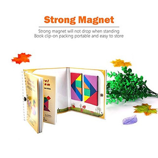 Tangram Juegos Viaje 360 Magnético Puzzle Y Pregunta Constru