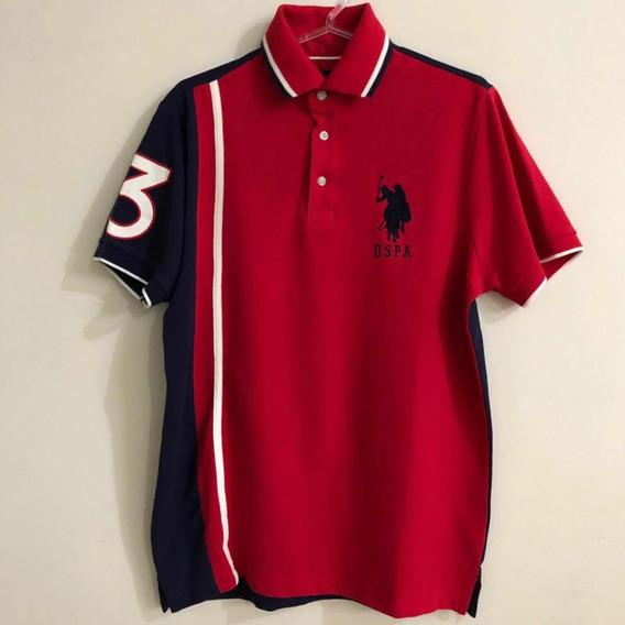 Camisa Us Polo Assn. Vermelha Original Tam. S (p)