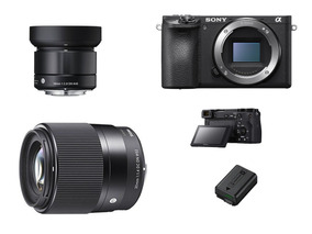Câmera Mirrorless A6500 4k Kit + Duas Lentes Sigma