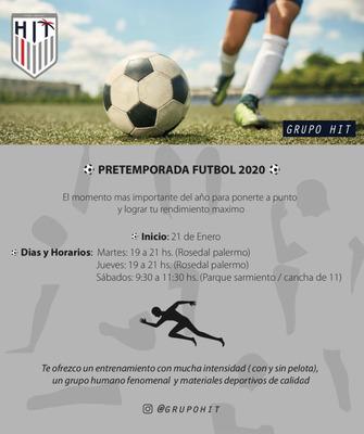 Entrenamiento Futbol Palermo / Pretemporada Enero- Febrero