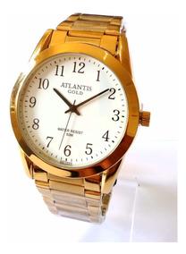 Relógio Feminino Dourado Atlantis Gold G3257