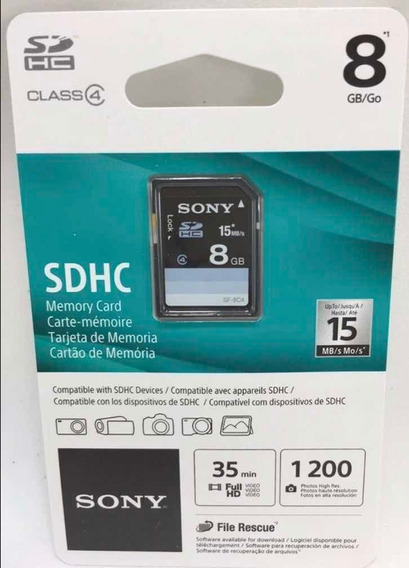 Cartão De Memória Sony Sdhc 8gb Classe 4 15mb/s