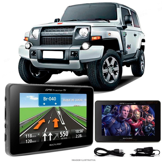 Navegador Gps Automotivo Troller Turbo Tela 4.3 Touch Voz Tv