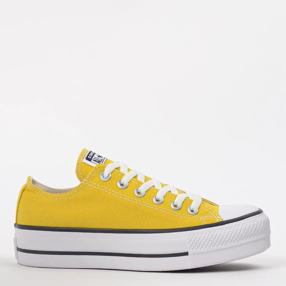 Tênis Converse All Star Lift Chuck Taylor Plataforma Amarelo