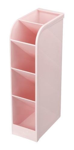 Imagem 1 de 4 de Organizador Mesa Escritório Porta Treco Maquiagem Rosa