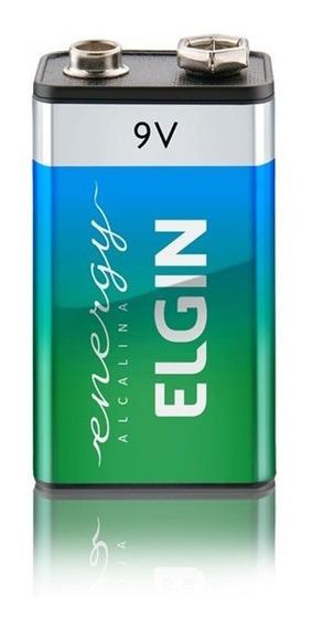 Bateria 9v Alcalina Elgin Alta Durabilidade