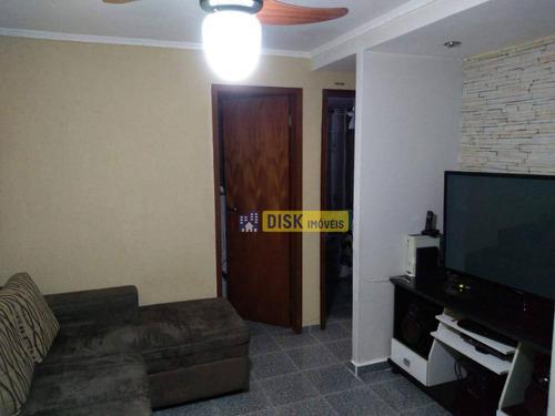 Apartamento Com 2 Dormitórios À Venda, 47 M² Por R$ 215.000 - Santa Terezinha - São Bernardo Do Campo/sp - Ap2038