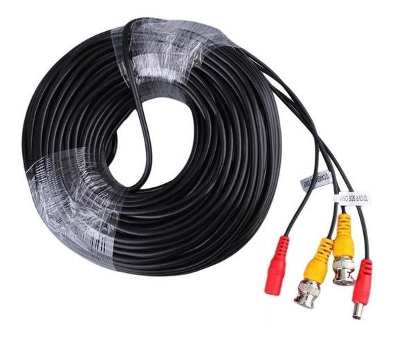 Cable 18 Metros Camaras Dvr Cctv Video Bnc 12v Armado