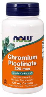 Picolinato De Cromo 200mcg 100 Cápsula Vegano Importado Eua