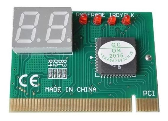 Placa Diagnóstico 2 Dígitos Pci - Debug Card - Pc Analyser
