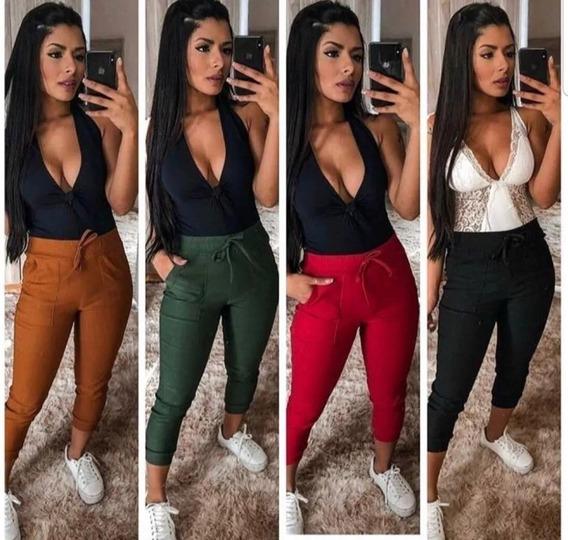 Calça Jogger Feminina Skinny Lycra Bengaline Top Promoção