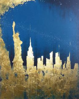 Cuadro Decorativo - Ciudad New York - Pintura (envío Rápido)
