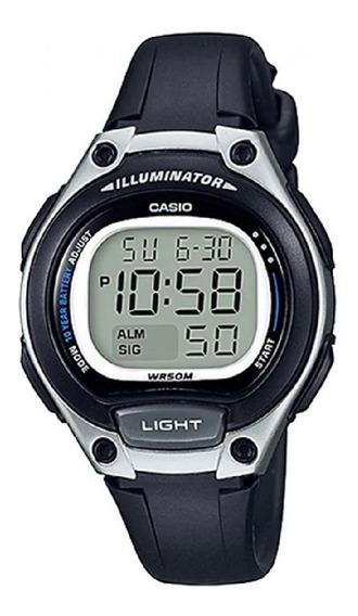 Relógio Casio Unissex Iluminator Lw-203 1avdf Prata Digital