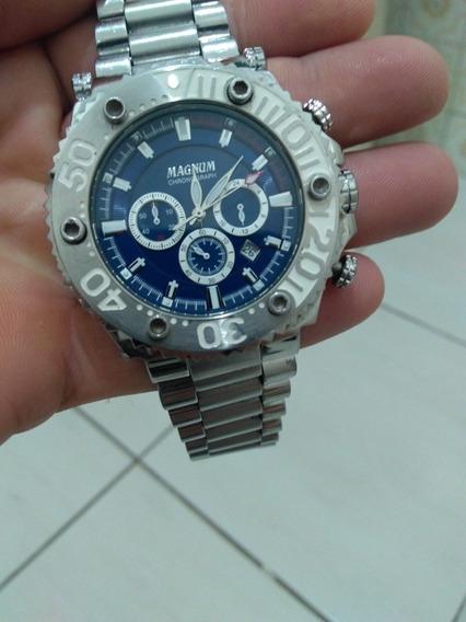 Relógio Masculino Magnum Ma 32121 Bem Conservado.