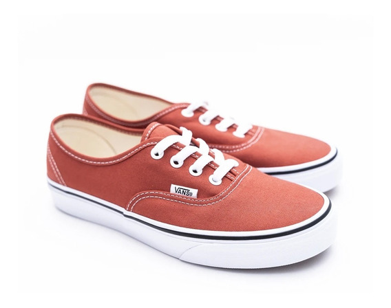 Tenis Vans Unisex Naranjas Authentic Hot Sauce Vn0a38emukz