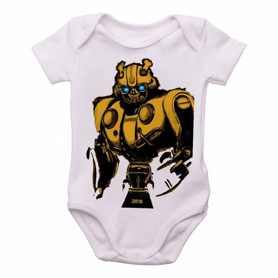 Bodie Body Infantil Roupa Bebê Bumblebee Fusca Transformers