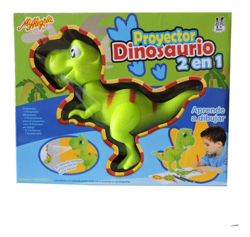 Imagen 1 de 4 de Juguete Proyector Dinosaurio Mi Alegría Mod: 2007