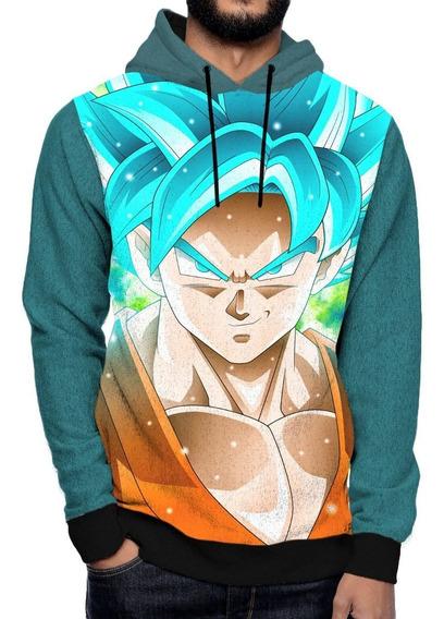 Blusa Moletom Capuz Bolso Goku Dbz Super Anime Geek Otaku 3d