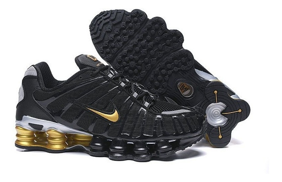 Tenis Nike Shox Tl 12 Molas Neymar Jr. Preto Dourado Origina