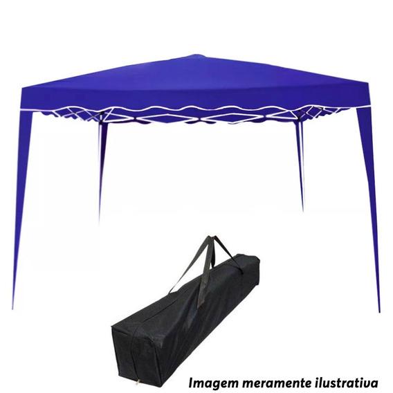 Tenda Gazebo Articulada 3x3 Import Way Camping Praia Festa Cobertura Sol Chuva Sanfonada Bolsa Transporte