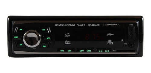 Som automotivo Roadstar RS-2606 com USB, bluetooth e leitor de cartão SD