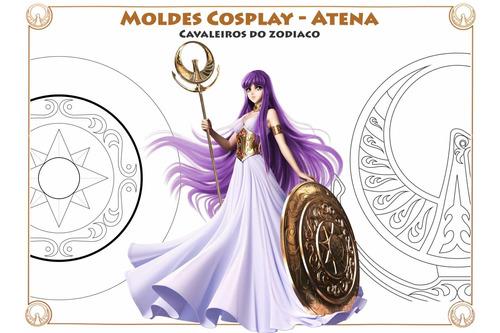 Imagem 1 de 9 de Molde Digital Cosplay - Corpete Athena Cavaleiros Do Zodiaco
