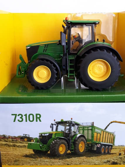 Miniatura Trator Agrícola John Deere 7310r - Escala 1/32