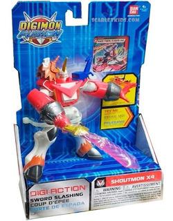 Digimon Shoutmon X4 Bandai Original Hasbro Corte Espada