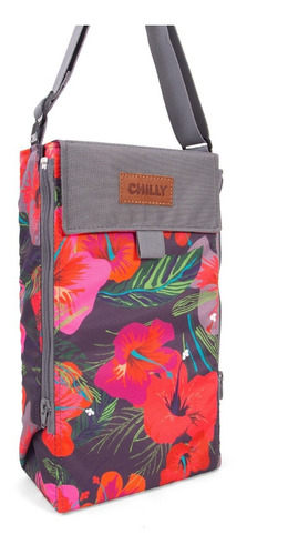 Bolso Matero Chilly Diseño Hibiscus