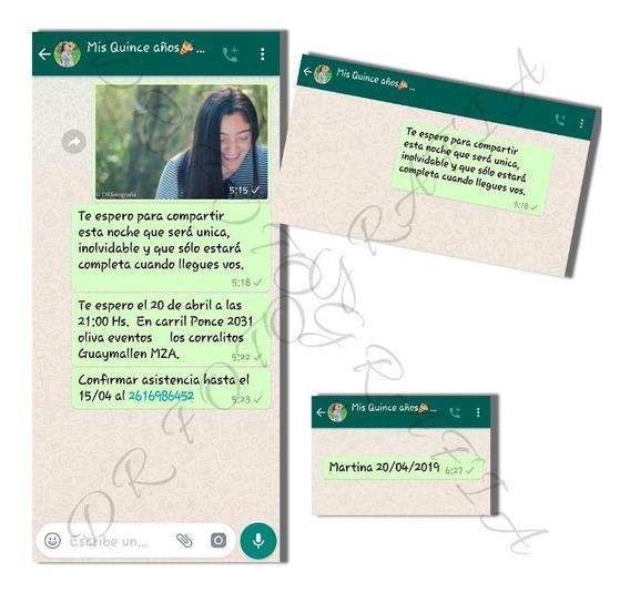30 Invitac. Tarjetas Original 15 Años Casamientos Whatsapp