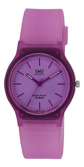 Relógio Infantil Feminino Lilás Q&q Prova D