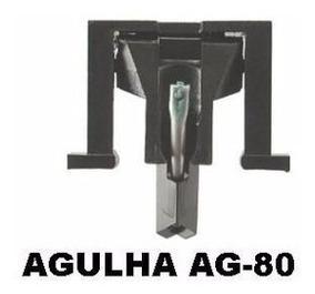 Kit C/2 Agulhas Fonocaptora Ag-80 Diamante - Leson -original