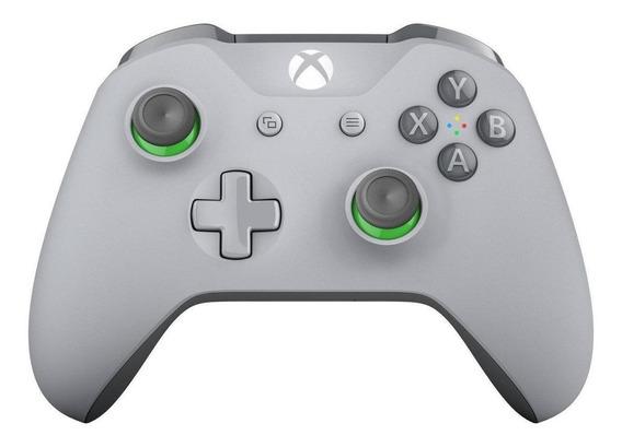 Controle joystick sem fio Microsoft Xbox One grey/green