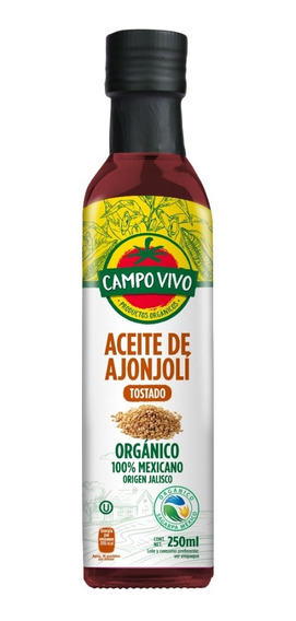 Aceite De Ajonjoli Tostado Organico Campo Vivo 250 Ml