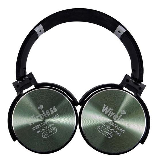 Fone De Ouvido Bluetooth Com Microfone Sem Fio Az-009-verde