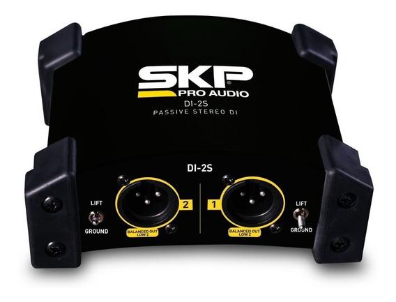 Direct Box Skp Di-2s Passivo Duplo 2 Canais C/ Garantia