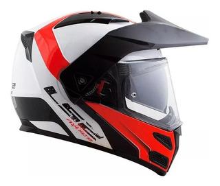 Capacete Moto Ls2 Ff324 Bc Vrm Articulado Viseira Solar
