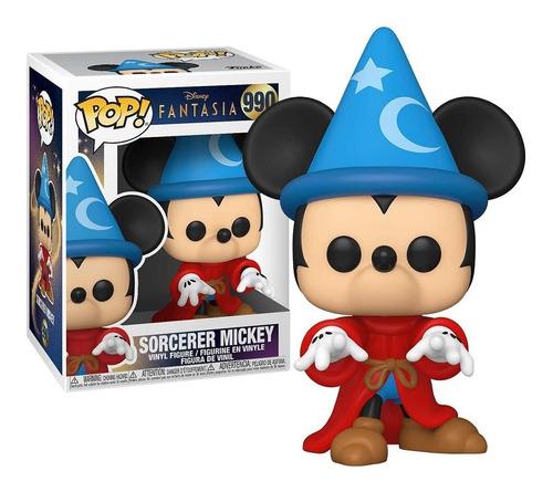 Imagem 1 de 3 de Boneco Funko Pop! Mickey Fantasia Feiticeiro 990 Disney