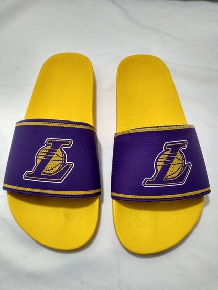 Chinelo Masculino Nba Los Angeles Lakers Amarelo/roxo 11170