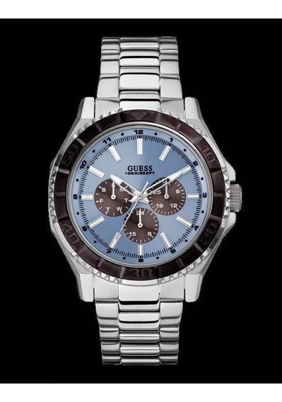 Oferta!!! Reloj Guess U0479g2 Metal / Azul - Nuevo