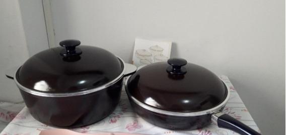 Combo Essen Cacerola + Sarten 24cm Linea Uva Con Antiadheren