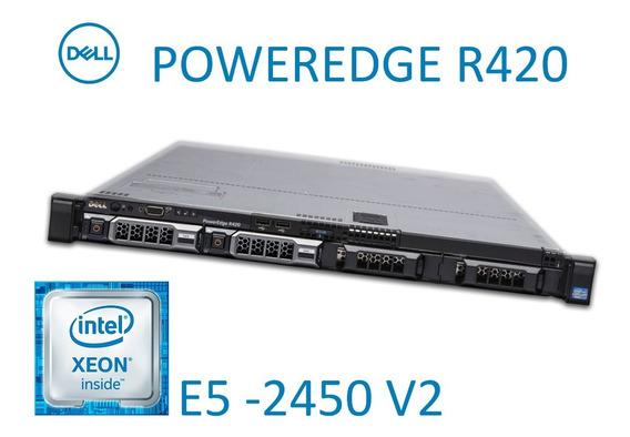 Servidor Dell R420 2 Xeon 2450 V2 Octacore 64gb Com Trilhos