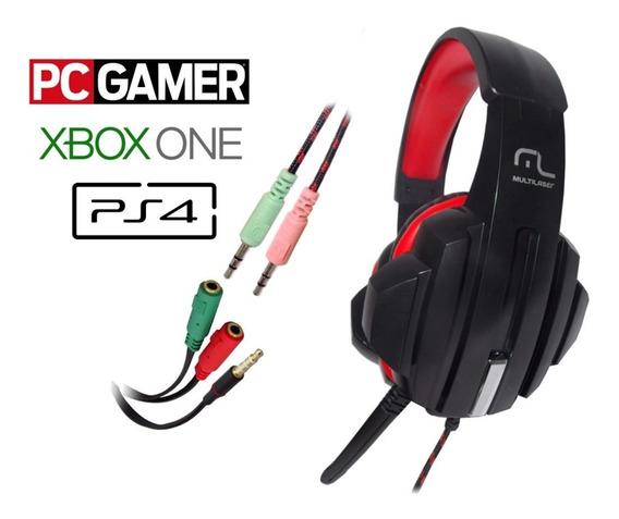 Headfone Gamer Fone Microfone Ph120 Ps4 Xbox Pc P2 P3 3.5mm