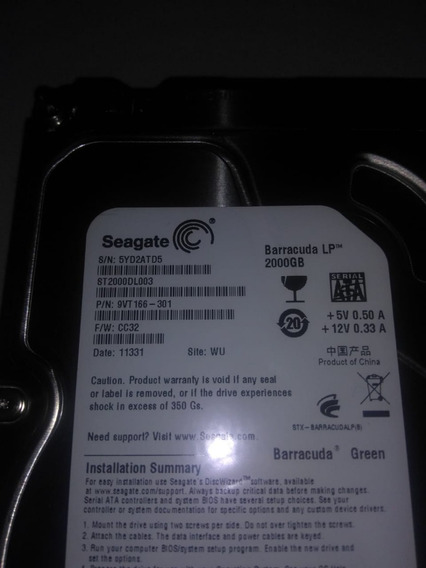 Hd Seagate Barracuda Lp 2tb Rpm 5900