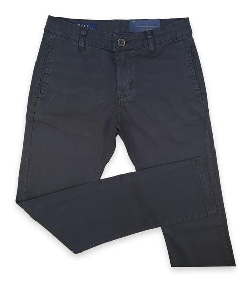 Calça De Sarja Cinza Escuro Ralph Lauren