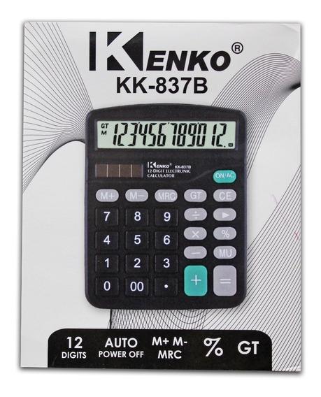 Calculadora Eletrônica Tela Grande Joinus Ds-837b 12 Dígitos